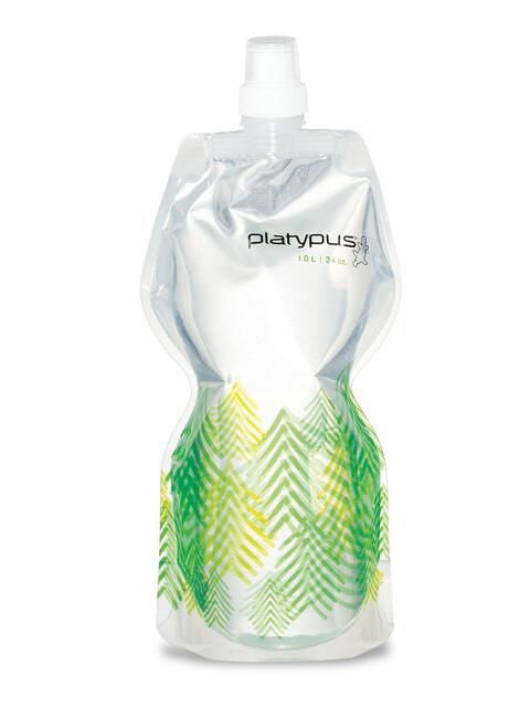 Platypus SoftBottle - Gourde - Push Pull Cap 1000ml vert/blanc